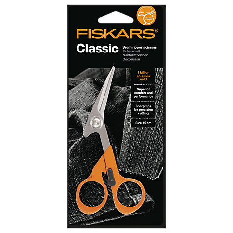 Buy Fiskars Classic Seam Ripper Scissors, 15cm Online at johnlewis.com