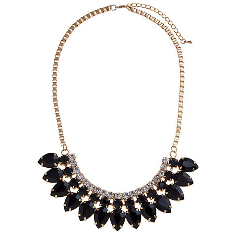 Buy COLLECTION by John Lewis Fan Stone Necklace, Black Online at johnlewis.com