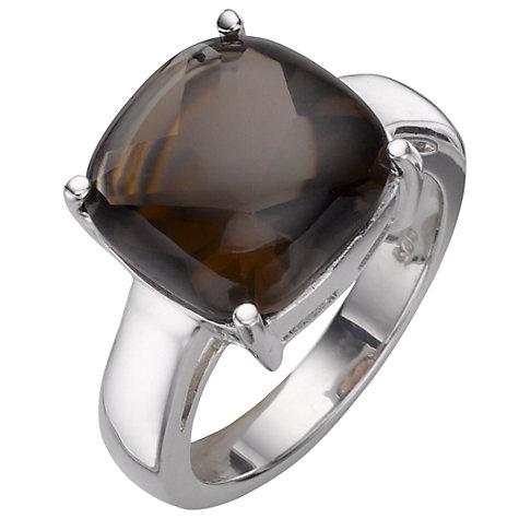 buy a b davis sterling silver smoky quartz ring brown