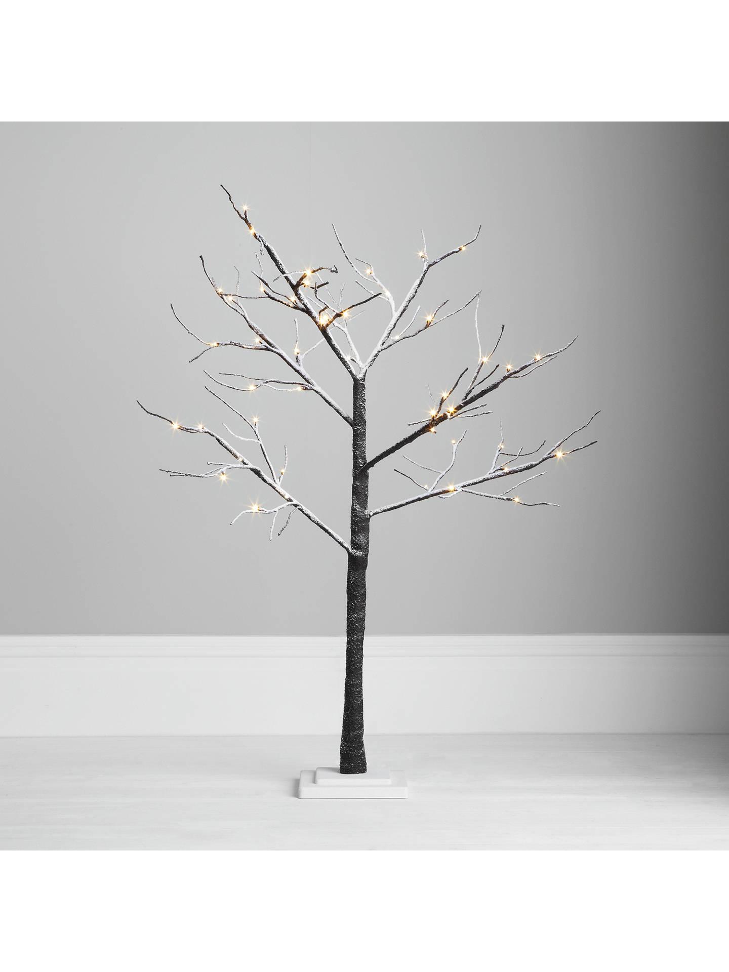 John Lewis Outdoor Pre-lit Multi Function Snowy Paper Tree, 4ft at John Lewis & Partners