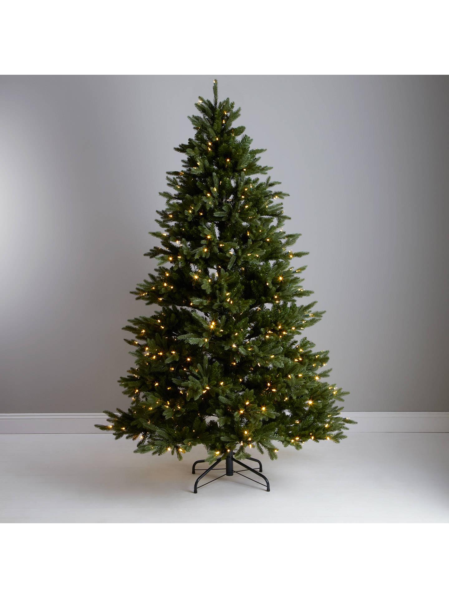 john lewis prelit dual light christmas tree green 75ft at john