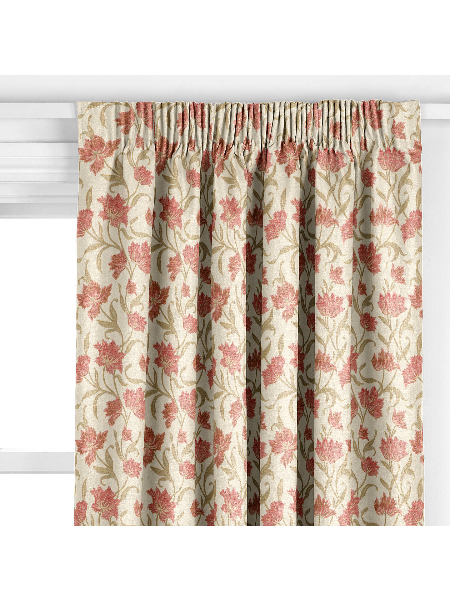 BuyJohn Lewis Partners Colette Made To Measure Curtains Bright Red Online At Johnlewis