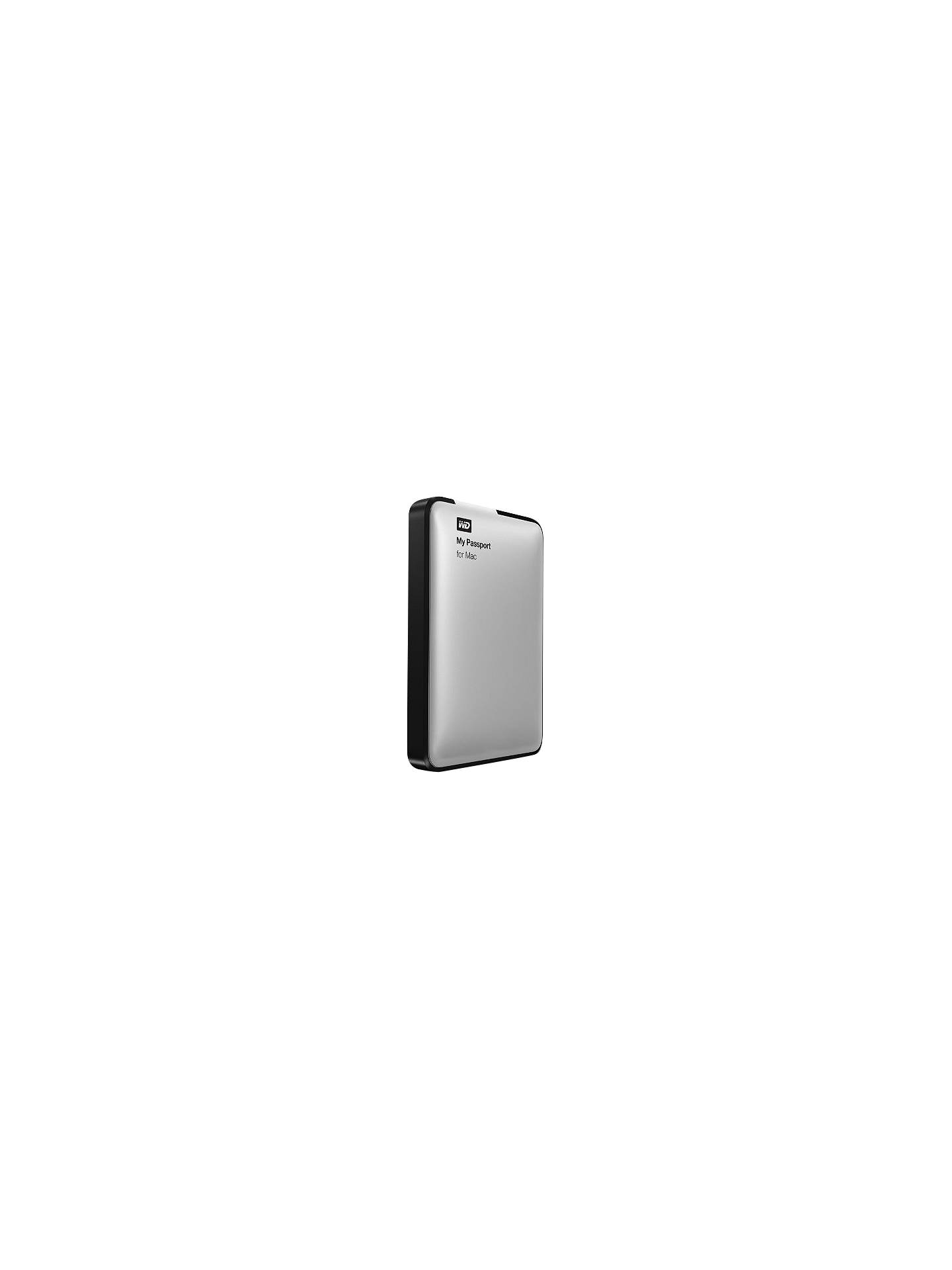 WD My Passport for Mac Portable Hard Drive, USB 3 0, 500GB, Silver