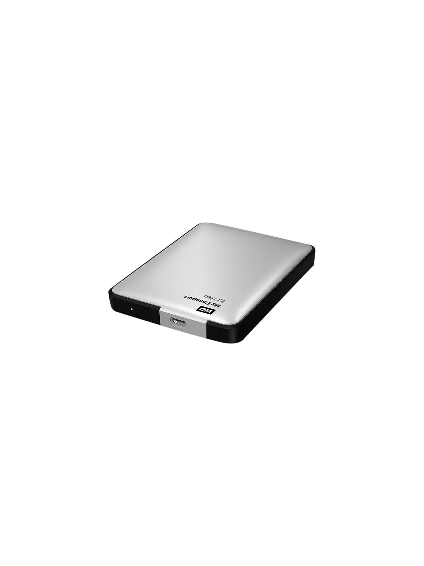 WD My Passport for Mac Portable Hard Drive, USB 3 0, 500GB