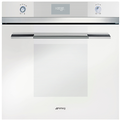 Image of Smeg SFP109B Single Electric Oven, White Glass