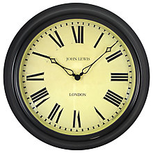Buy Lascelles Personalised Case Clock, Dia.45cm, Black Online at johnlewis.com