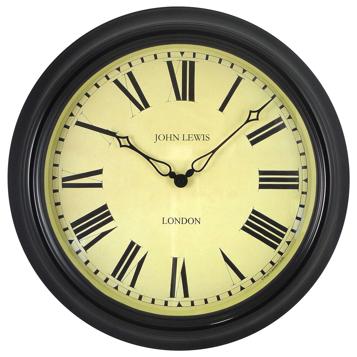 BuyLascelles Personalised Case Clock, Dia.45cm, Black Online at johnlewis.com