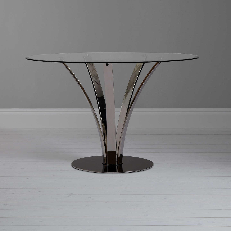John lewis moritz glass top dining table at john lewis for John lewis chinese furniture
