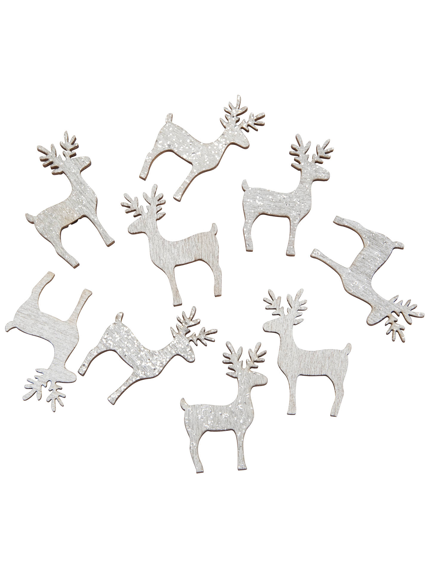 Christmas Toppers For Card Making.John Lewis Glitter Reindeer Paper Toppers Pack Of 9 At John