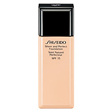 Buy Shiseido Sheer and Perfect Foundation Online at johnlewis.com
