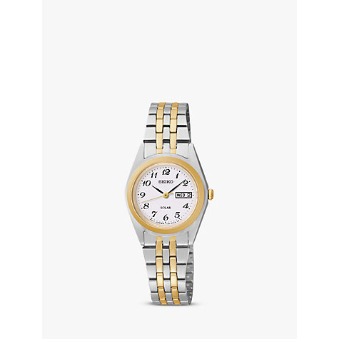 Buy Seiko SUT116P9 Women's Two Tone Bracelet Strap Watch, Gold/Silver Online at johnlewis.com