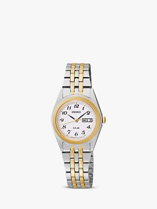 Seiko SUT116P9 Women's Two Tone Bracelet Strap Watch, Gold/Silver
