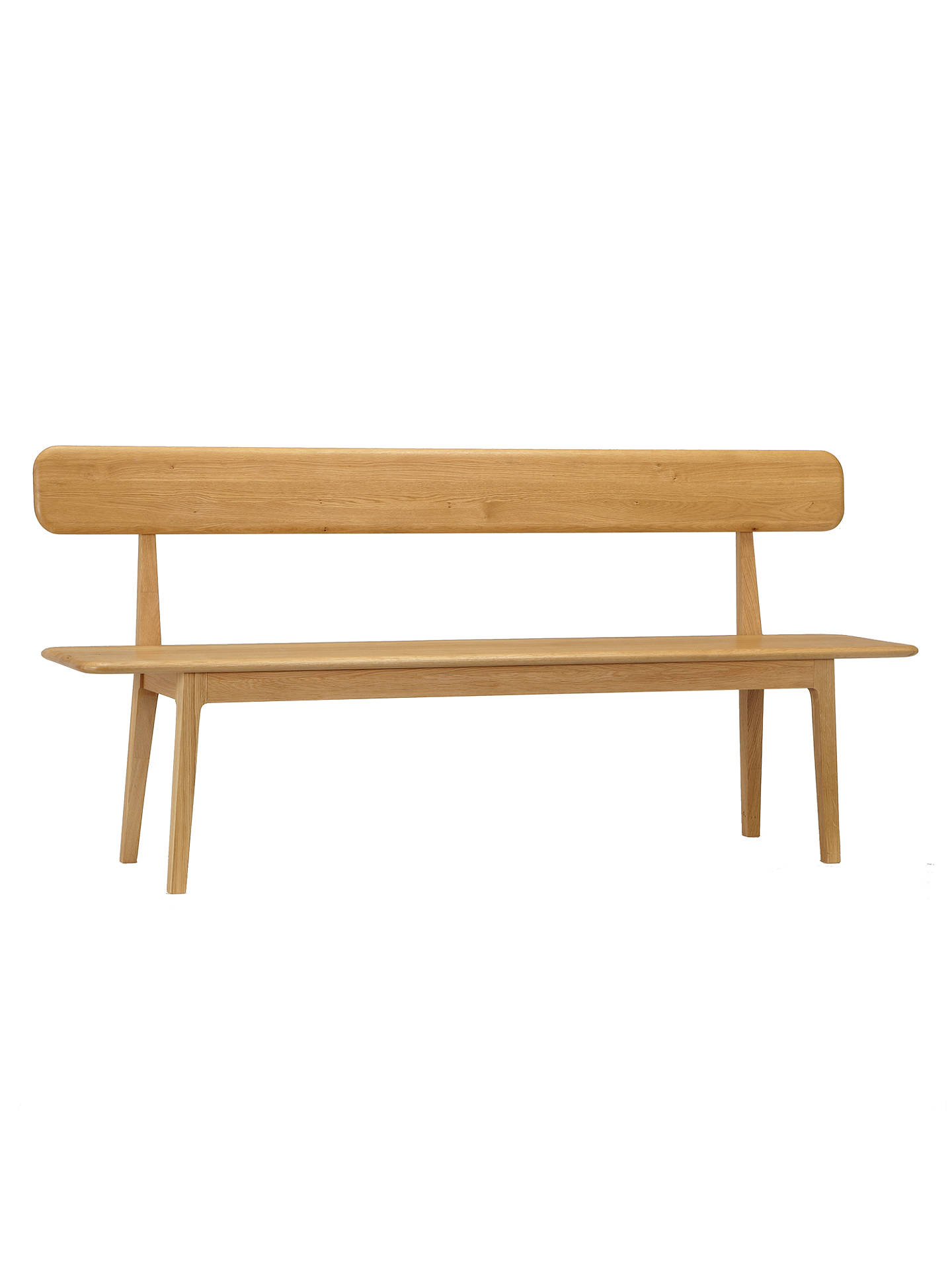 Astonishing John Lewis Harmony Large Dining Bench With Backrest At John Andrewgaddart Wooden Chair Designs For Living Room Andrewgaddartcom