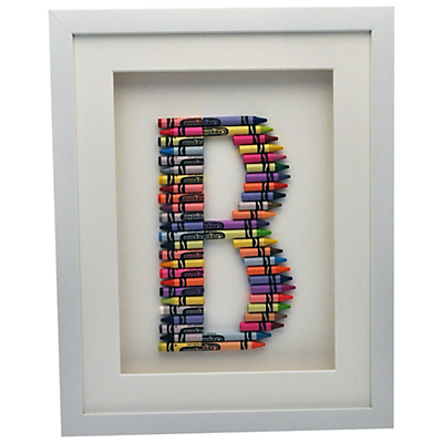 1108eb63bb5 The Letteroom Crayon B Framed 3D Artwork