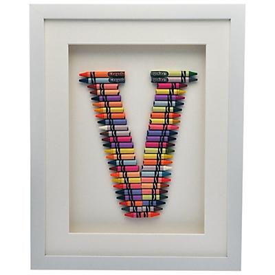 The Letteroom Crayon V Framed 3D Artwork, 34 x 29cm