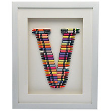 Buy The Letteroom Crayon V Framed 3D Artwork, 34 x 29cm Online at johnlewis.com