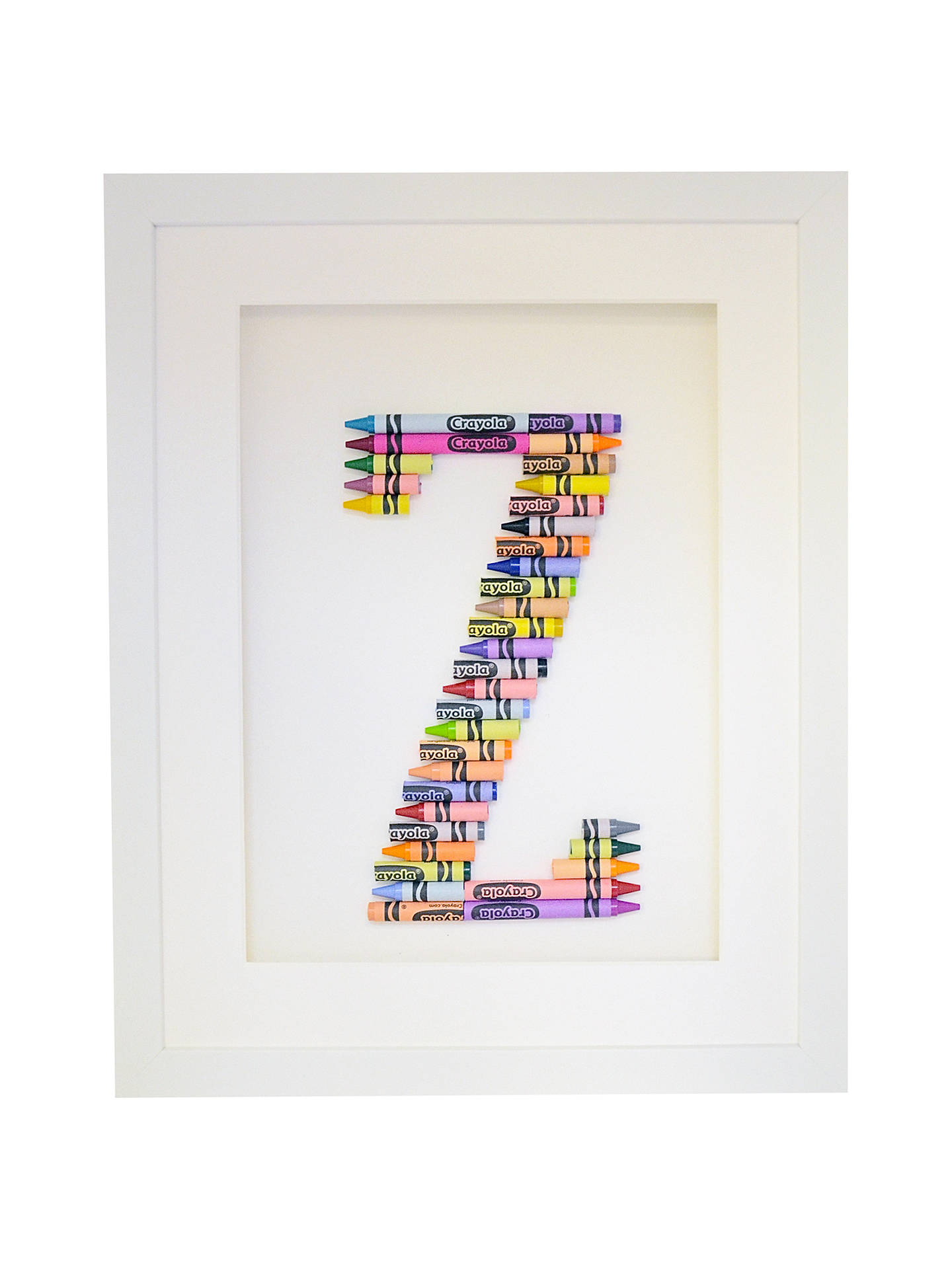 BuyThe Letteroom Crayon Z Framed 3D Artwork, 34 x 29cm Online at johnlewis.com