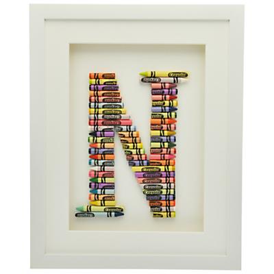 The Letteroom Crayon N Framed 3D Artwork, 34 x 29cm
