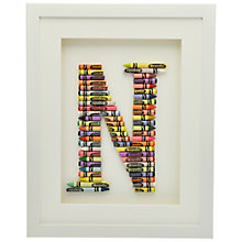 Buy The Letteroom Crayon N Framed 3D Artwork, 34 x 29cm Online at johnlewis.com