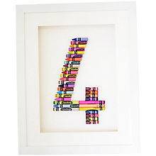 Buy The Letteroom Crayon 4 Framed 3D Artwork, 34 x 29cm Online at johnlewis.com