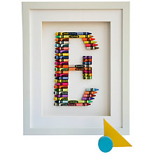 Buy The Letteroom Crayon E Framed 3D Artwork, 34 x 29cm Online at johnlewis.com