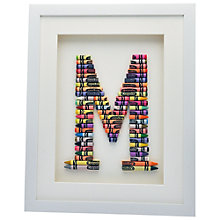Buy The Letteroom Crayon M Framed 3D Artwork, 34 x 29cm Online at johnlewis.com