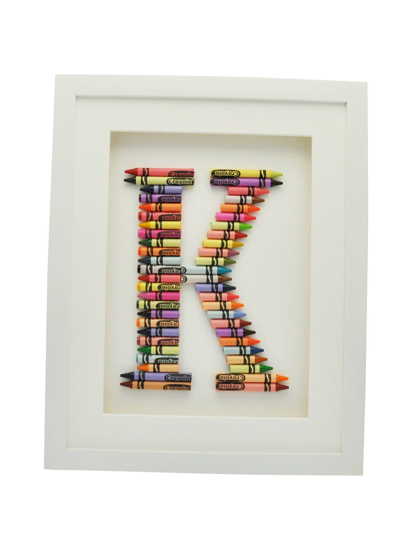Buy The Letteroom Crayon K Framed 3D Artwork, 34 x 29cm Online at johnlewis.com