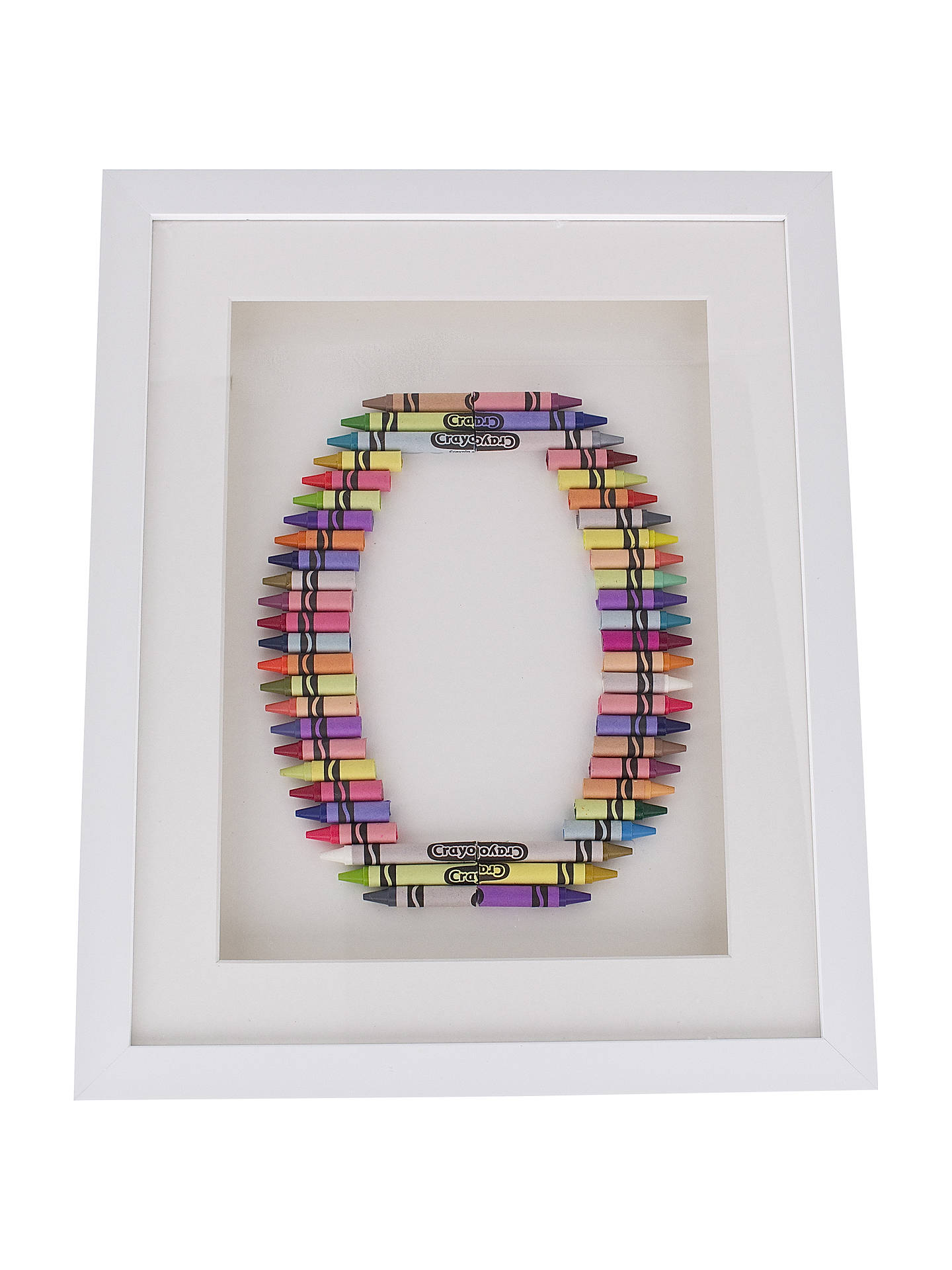 BuyThe Letteroom Crayon O Framed 3D Artwork, 34 x 29cm Online at johnlewis.com
