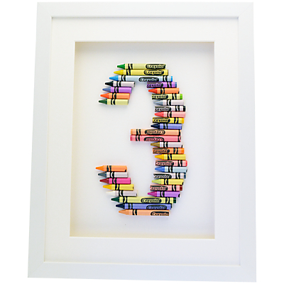 The Letteroom Crayon 3 Framed 3D Artwork, 34 x 29cm