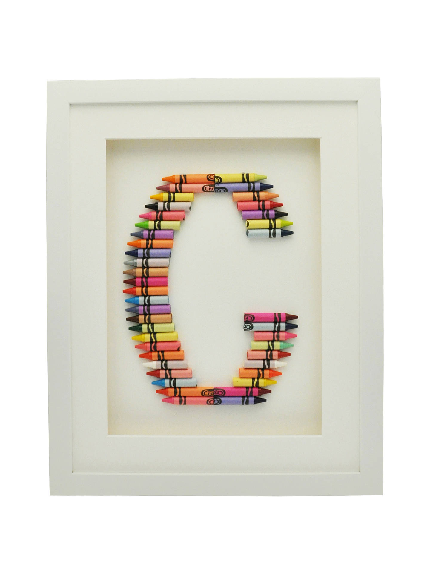BuyThe Letteroom Crayon G Framed 3D Artwork, 34 x 29cm Online at johnlewis.com