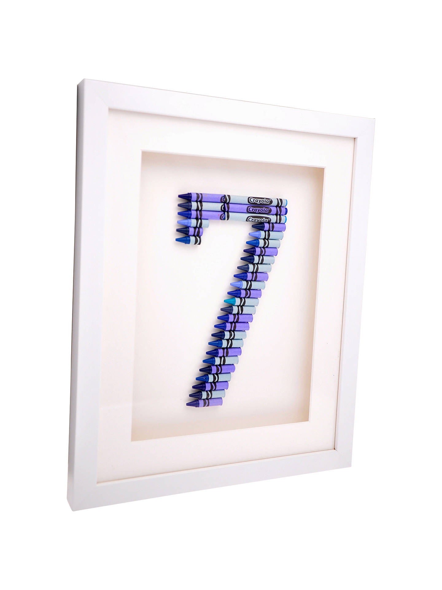 Buy The Letteroom Crayon 7 Framed 3D Artwork, 34 x 29cm Online at johnlewis.com