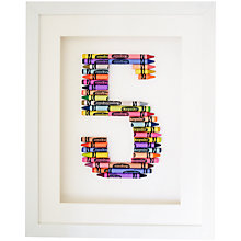 Buy The Letteroom Crayon 5 Framed 3D Artwork, 34 x 29cm Online at johnlewis.com