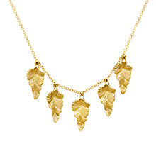 Buy London Road 9ct Gold Kew Leaf Necklace, Gold Online at johnlewis.com