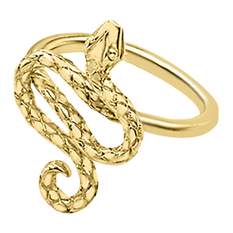 Buy London Road 9ct Yellow Gold Serpent Ring, M Online at johnlewis.com