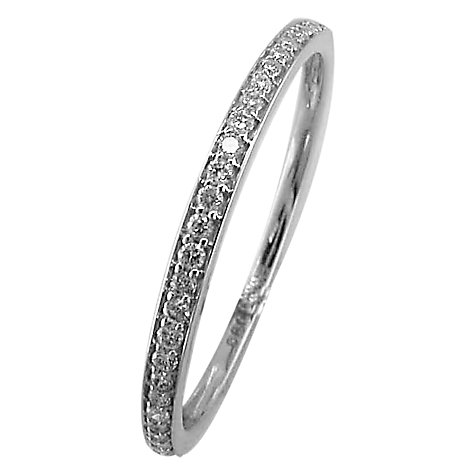 Buy EWA 18ct White Gold Eternity Diamond Ring, White Gold Online at johnlewis.com