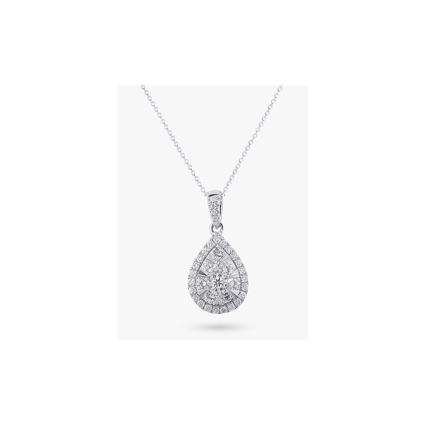 dc jewellery our claw necklaces pendant london pear shaped diamond hatton collections