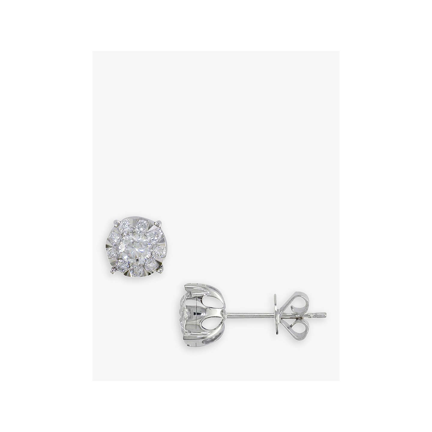 earrings platinum earring sarkisians round stud product gold diamond ctw white