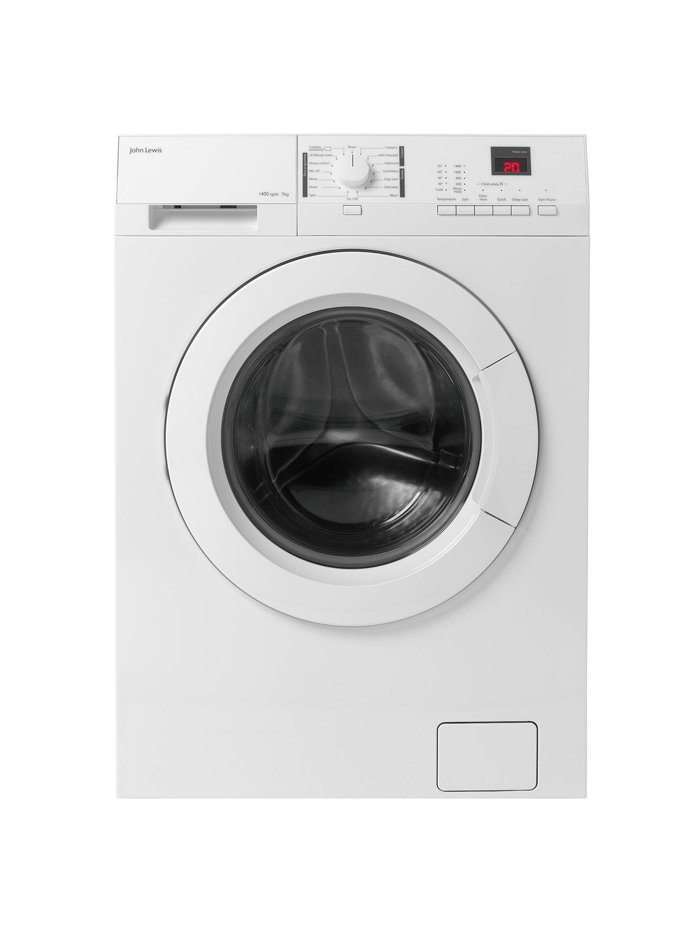d1497b63b2b Buy John Lewis   Partners JLWM1412 Freestanding Washing Machine