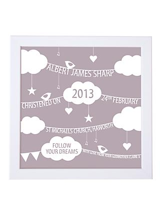 Modo Creative Personalised Clouds   Bunting Framed Print 2df0abacff921