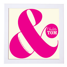 Buy Modo Creative Personalised Ampersand Wedding Framed Print, 18 x 18cm Online at johnlewis.com