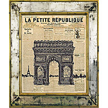 Buy Brookpace, The Versailles Collection - Arc de Triomphe Framed Print, 55 x 45cm Online at johnlewis.com