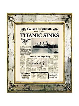 Brookpace, The Versailles Collection - Titanic Sinks Framed Print, 55 x 45cm