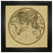 Buy Brookpace, Vintage Maps Collection - Eastern Hemisphere Framed Print, 91 x 91cm Online at johnlewis.com