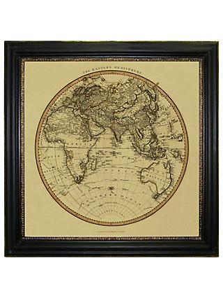 Vintage Maps Collection - Eastern Hemisphere Framed Print, 91 x 91cm