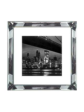 Brookpace, The Manhattan Collection - New York at Night Framed Print, 46 x 46cm