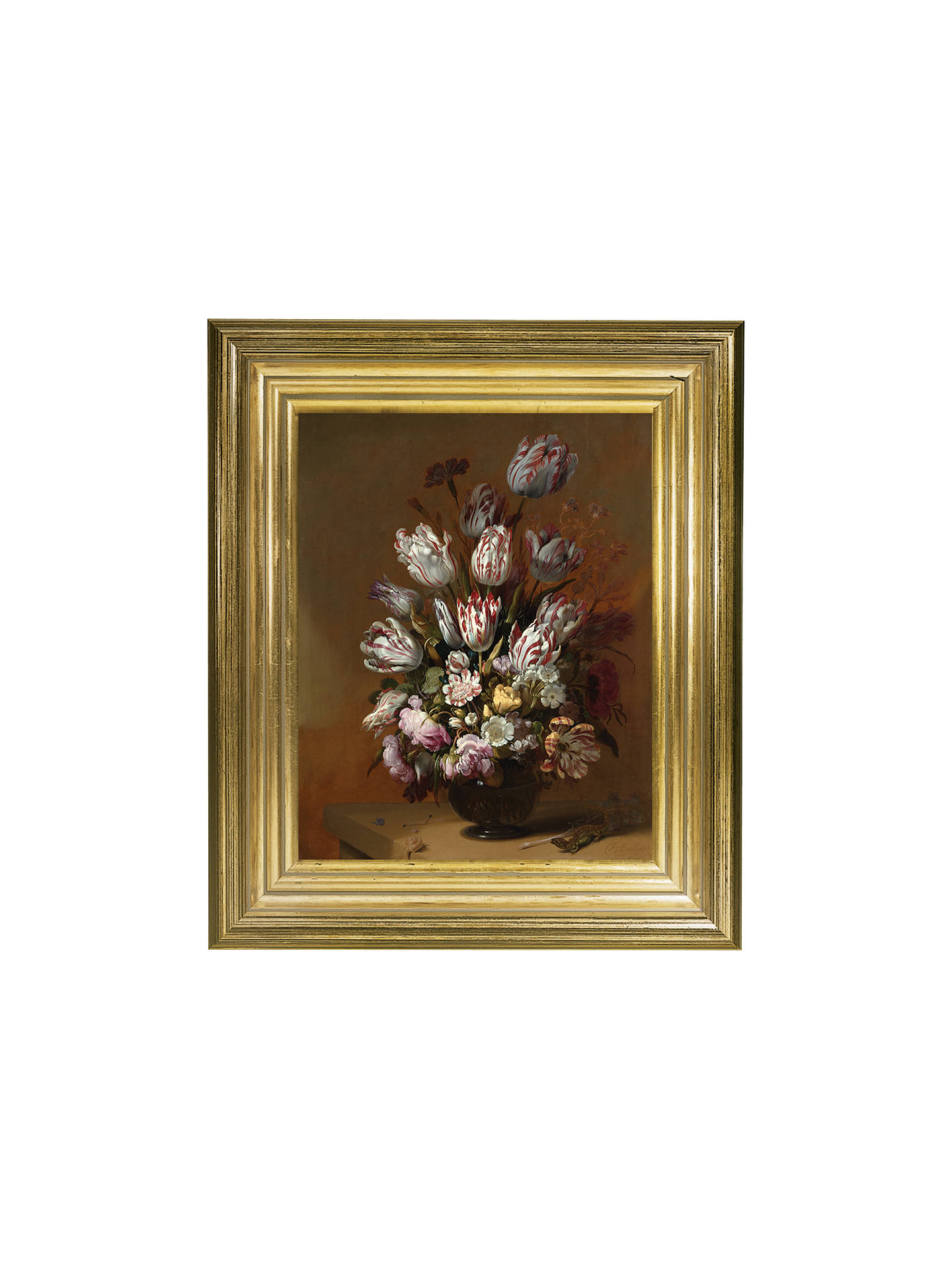 BuyRijksmuseum, Hans Bollongier - Still Life with Flowers Framed Print, 34 x 29cm Online at johnlewis.com
