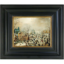 Buy Rijksmuseum, Hendrick Avercamp - Winter Landscape with Skaters Framed Print, 36 x 42cm Online at johnlewis.com