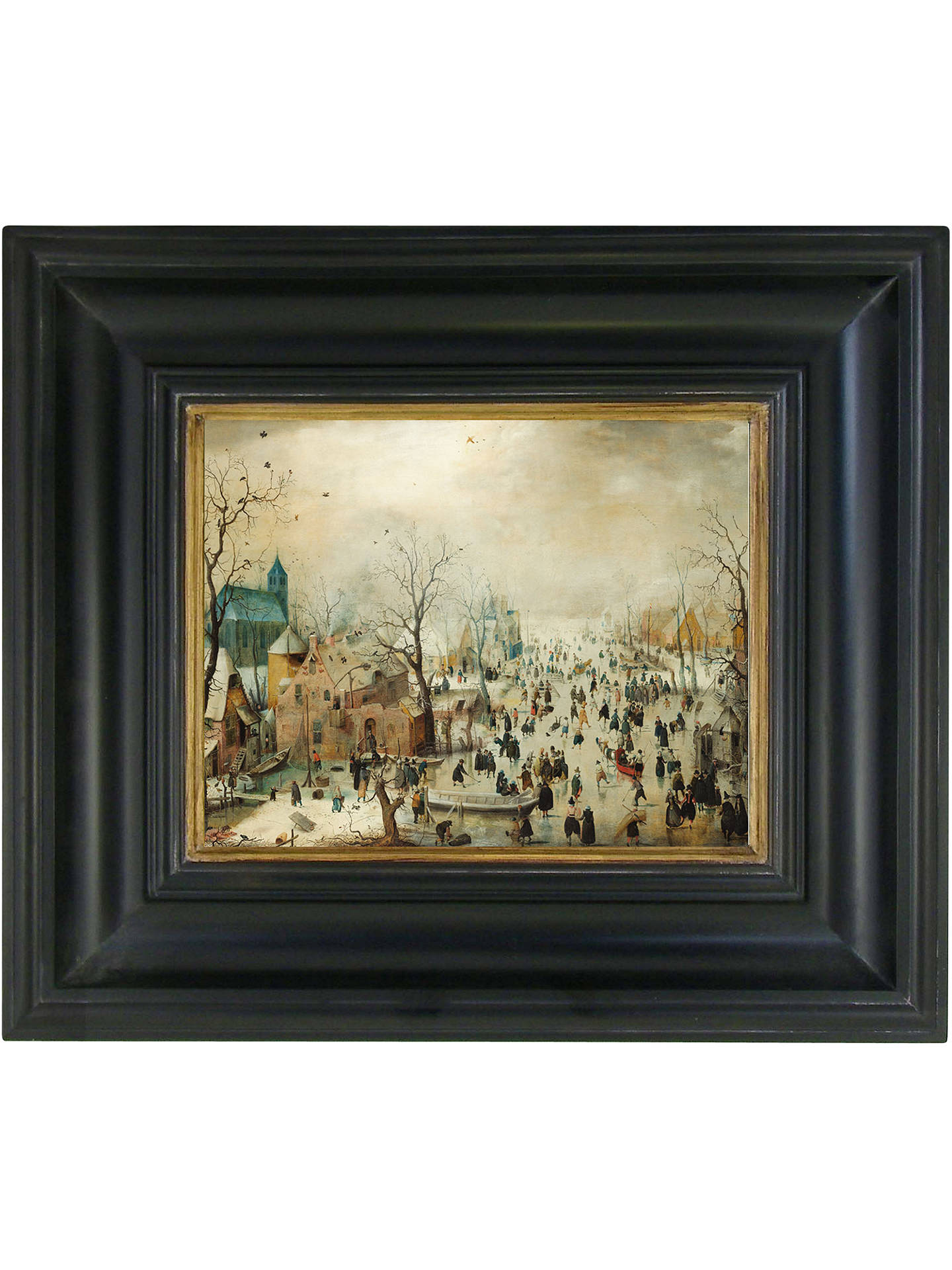 BuyRijksmuseum, Hendrick Avercamp - Winter Landscape with Skaters Framed Print, 36 x 42cm Online at johnlewis.com