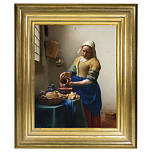Buy Rijksmuseum, Johannes Vermeer - The Milkmaid Framed Print, 34 x 29cm Online at johnlewis.com