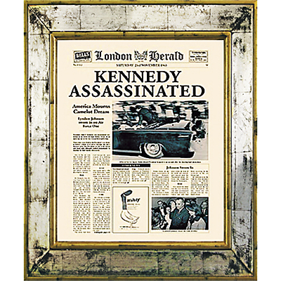 Brookpace, The Versailles Collection – Kennedy Assassinated Framed Print, 55 x 45cm